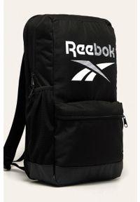 Reebok - Plecak. Kolor: czarny. Materiał: materiał, poliester. Wzór: nadruk, gładki, paski #3