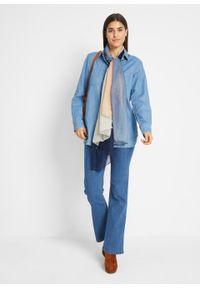 Wygodne dżinsy ze stretchem BOOTCUT bonprix niebieski. Kolor: niebieski