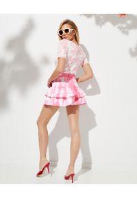 LOVE SHACK FANCY - Różowa spódnica Landen. Kolor: biały. Materiał: bawełna