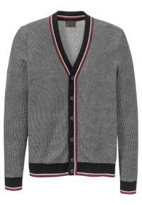 Czarny sweter bonprix na spotkanie biznesowe, melanż, biznesowy