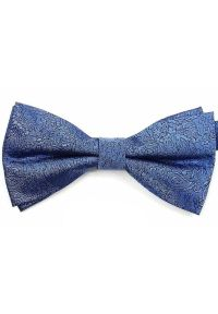 Vernon - Niebieska Męska Mucha - VERNON - Paisley, Orientalna. Kolor: niebieski. Wzór: paisley. Styl: sportowy, elegancki