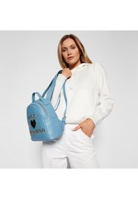 Love Moschino - Plecak LOVE MOSCHINO - JC4053PP1CLF0700 Azzurro. Kolor: niebieski. Materiał: skóra. Styl: klasyczny