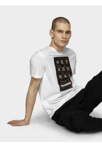 Biały t-shirt outhorn