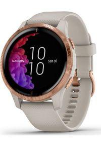 GARMIN - Zegarek sportowy Garmin Venu Beżowy (010-02173-22). Kolor: beżowy. Styl: sportowy