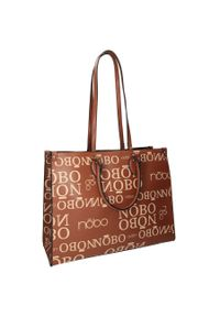 Nobo - Torba damska brązowa NOBO NBAG-J3730-C015. Kolor: brązowy. Wzór: gładki. Materiał: skórzane. Rodzaj torebki: na ramię