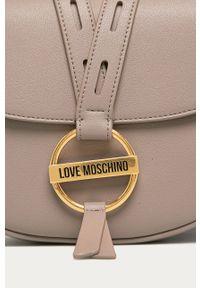 Szara listonoszka Love Moschino na ramię, mała