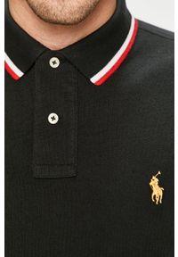 Polo Ralph Lauren - Polo. Typ kołnierza: polo. Kolor: czarny. Materiał: dzianina. Długość: krótkie