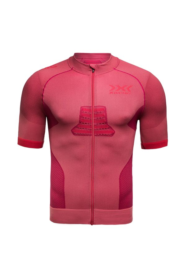Czerwona koszulka termoaktywna X-Bionic na fitness i siłownię, długa