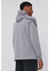 Nike - Bluza. Kolor: szary. Materiał: tkanina, włókno, skóra