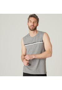 NYAMBA - Koszulka bez rękawów fitness. Kolor: niebieski. Materiał: bawełna, poliester, materiał, elastan. Długość rękawa: bez rękawów. Styl: sportowy