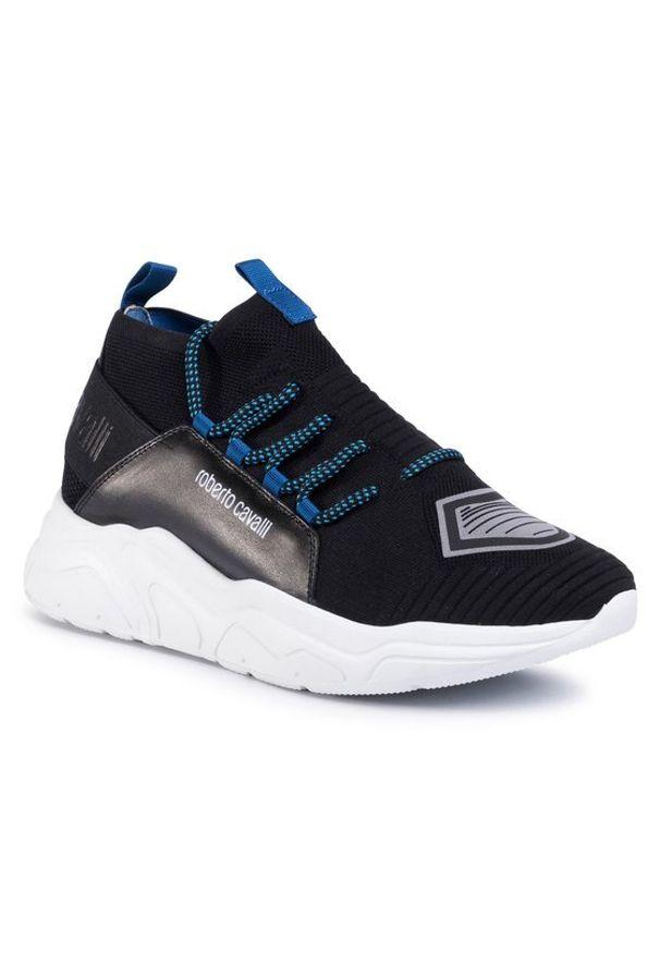 Czarne sneakersy Roberto Cavalli