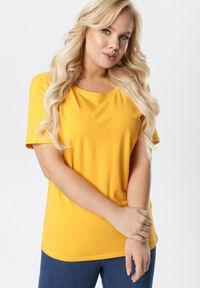Born2be - Żółty T-shirt Aetheriel. Kolor: żółty