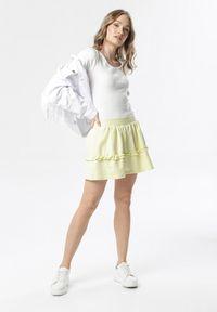 Born2be - Jasnożółta Spódnica Brinora. Kolor: żółty