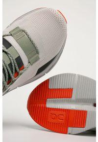 Szare sneakersy On Running na sznurówki, z cholewką
