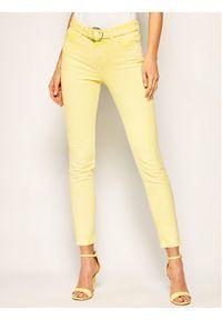 Żółte jeansy slim Guess