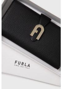 Furla - Portfel skórzany Sofia. Kolor: czarny. Materiał: skóra. Wzór: gładki