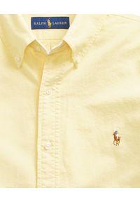 Żółta koszula Ralph Lauren polo, z długim rękawem, długa