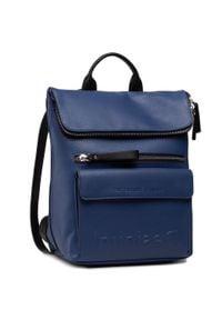 Desigual - Plecak DESIGUAL - 21SAKP08 5036. Kolor: niebieski. Materiał: skóra. Styl: klasyczny