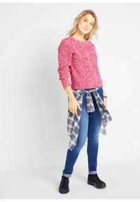 Czerwony sweter bonprix melanż