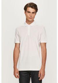 Biała koszulka polo Hugo na co dzień, casualowa, polo, krótka