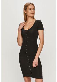 Czarna sukienka Brave Soul na co dzień, z krótkim rękawem, casualowa