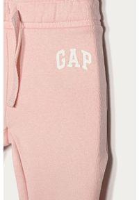 Różowe spodnie dresowe GAP melanż, casualowe, na co dzień