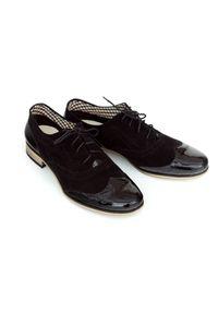 Czarne półbuty Zapato casualowe, do pracy