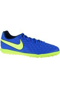Niebieskie turfy Nike w kolorowe wzory, z cholewką
