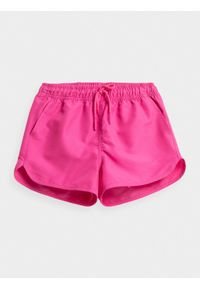 4f - Spodenki dziewczęce (122-164). Kolor: różowy. Materiał: tkanina
