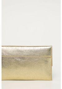 Złota kopertówka Patrizia Pepe skórzana, z aplikacjami, klasyczna, z aplikacjami