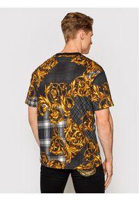 Versace Jeans Couture T-Shirt 71GAH6R6 Czarny Regular Fit. Kolor: czarny