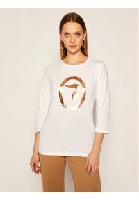 Biała bluzka Trussardi Jeans