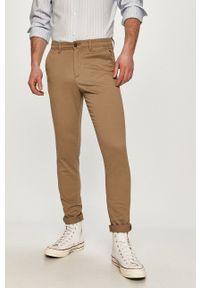 Jack & Jones - Spodnie. Okazja: na co dzień. Kolor: beżowy. Styl: casual