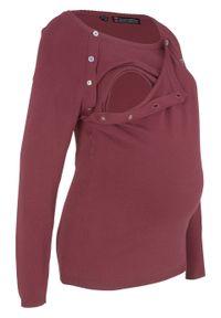 Czerwony sweter bonprix moda ciążowa