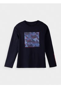 4f - Longsleeve chłopięcy (122-164). Kolor: niebieski. Materiał: bawełna, dzianina. Długość rękawa: długi rękaw