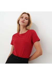 Mohito - Bawełniana koszulka - Czerwony. Kolor: czerwony. Materiał: bawełna