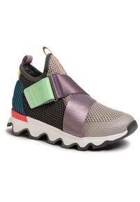 Szare buty sportowe sorel na co dzień, z cholewką