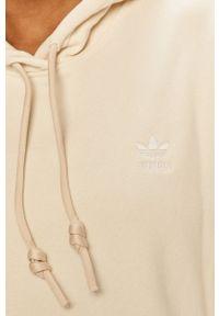 adidas Originals - Bluza bawełniana. Okazja: na co dzień. Kolor: beżowy. Materiał: bawełna. Długość rękawa: długi rękaw. Długość: długie. Styl: casual