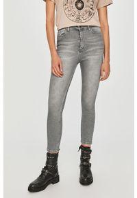 Niebieskie jeansy Answear Lab wakacyjne, z podwyższonym stanem #5