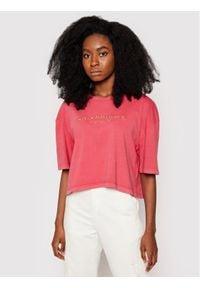 Pepe Jeans T-Shirt Daniella PL504840 Czerwony Oversize. Kolor: czerwony