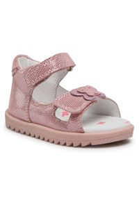 Różowe sandały Lasocki Kids casualowe, z aplikacjami