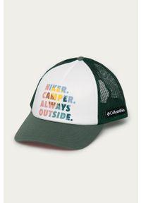 columbia - Columbia - Czapka. Kolor: biały. Wzór: nadruk