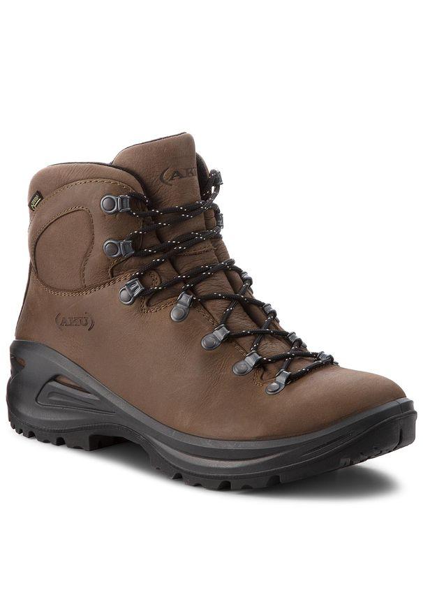 Brązowe buty trekkingowe Aku z cholewką, Gore-Tex, trekkingowe