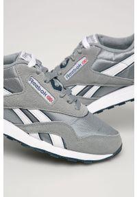 Szare buty sportowe Reebok Classic z okrągłym noskiem, z cholewką, Reebok Classic, na sznurówki