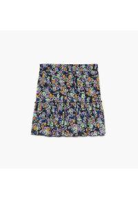 Cropp - Spódnica w kwiaty - Fioletowy. Kolor: fioletowy. Wzór: kwiaty