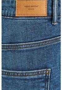 Niebieskie jeansy bootcut Vero Moda z podwyższonym stanem