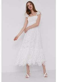 Miss Sixty - Sukienka. Okazja: na co dzień. Kolor: biały. Typ sukienki: proste. Styl: casual