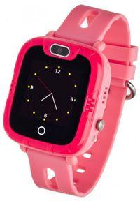 Różowy zegarek GARETT młodzieżowy, smartwatch
