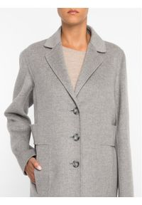 Szary płaszcz zimowy Sportmax Code #6