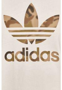 adidas Originals - T-shirt. Okazja: na co dzień. Kolor: biały. Materiał: bawełna. Wzór: nadruk. Styl: casual